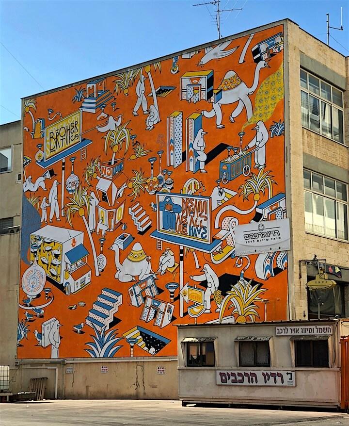 Jerusalem Syndrom, el nuevo mural de Brothers of Light