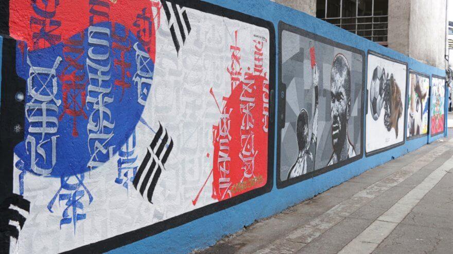 Fútbol y arte urbano unidos en Santa María la Rivera