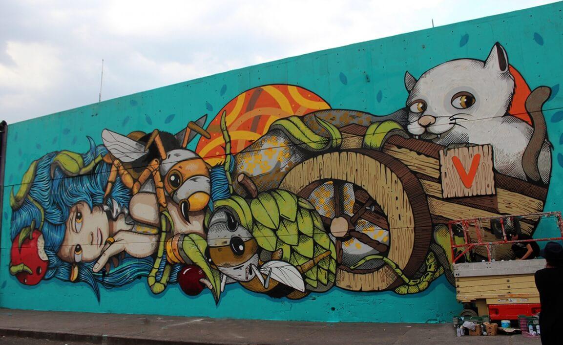 La Central de Abastos se llena de color con Central de Muros