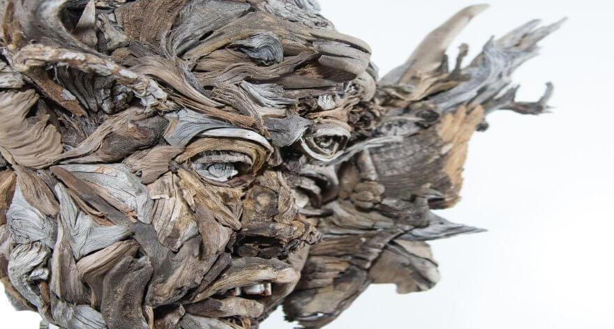 Bennet Ewing y sus esculturas hechas de madera
