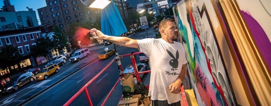 El nuevo mural en Bowery Wall por leyendas del graffiti