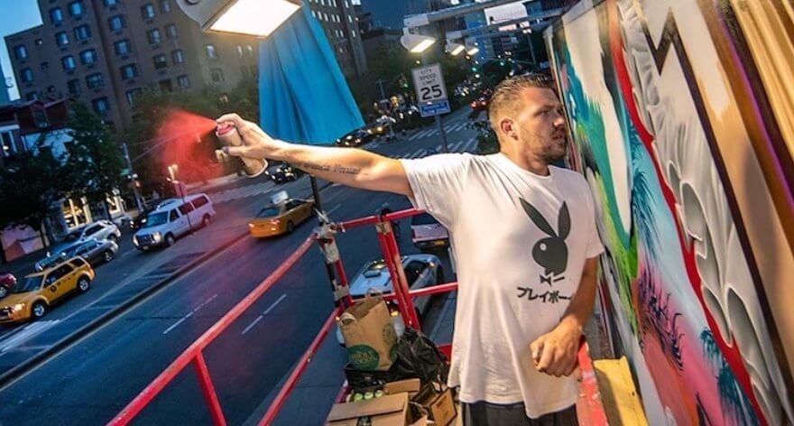 Tristan Eaton en el Houston Bowery Wall