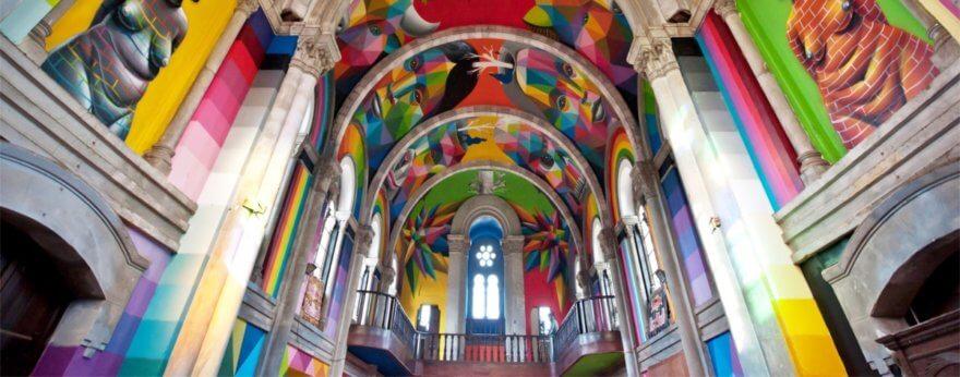 Okuda San Miguel en la Galería Delimbo