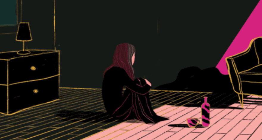 Tracy J Lee y sus ilustraciones llenas de melancolía en movimiento