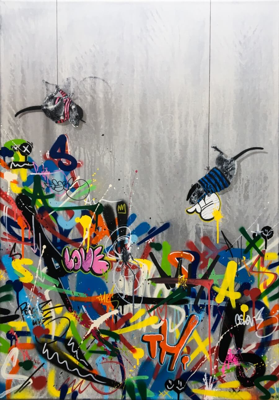 Grey Scale: The art of cutting and spraying en Nuart Gallery