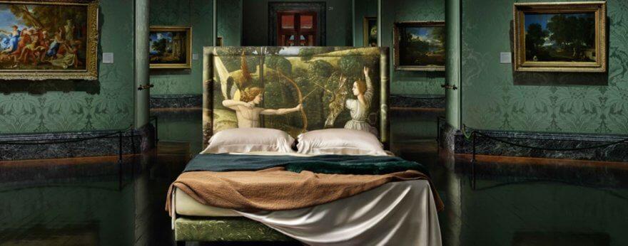 Dormir sobre una obra de arte es posible