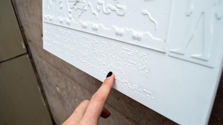 Murales para personas con discapacidad visual