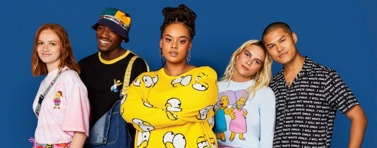 ASOS y The Simpsons crean línea de ropa noventera