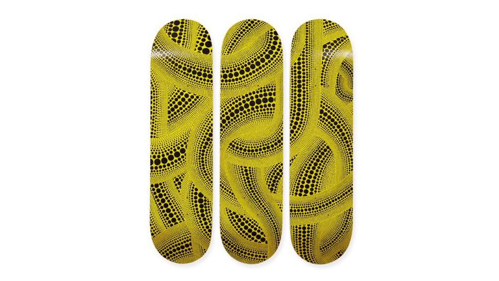 Obras de Yayoi Kusama en patinetas