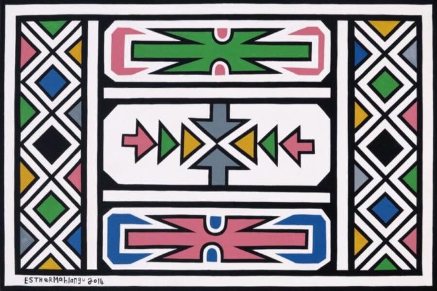 Esther Mahlangu arte Sudáfrica