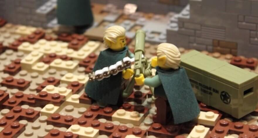 LEGO recrea una increíble batalla del «Señor de los anillos»