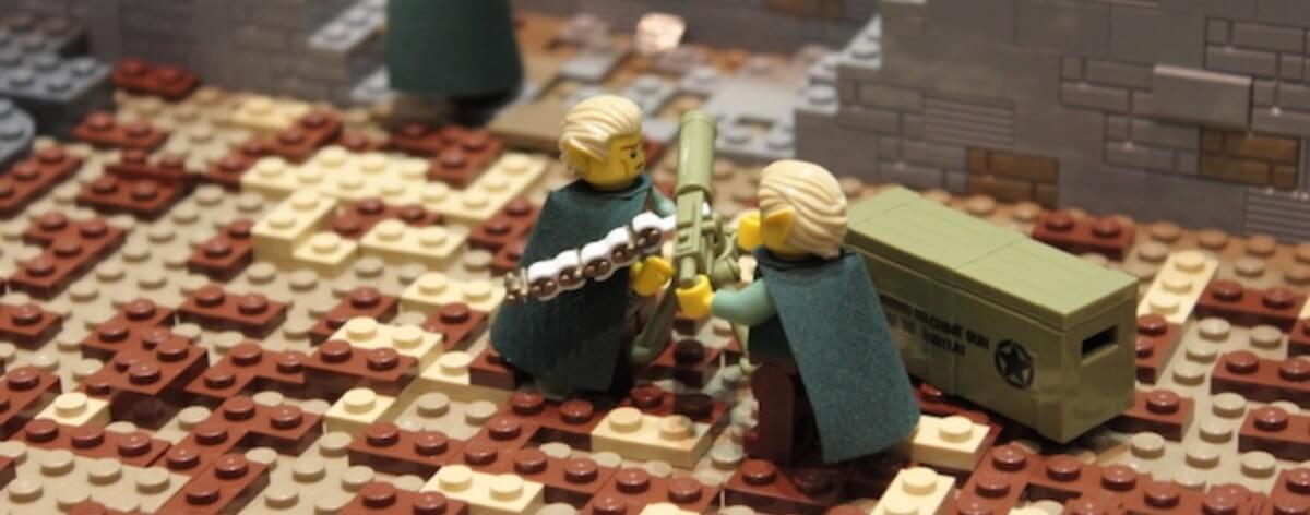 """LEGO recrea una increíble batalla del """"Señor de los anillos"""""""
