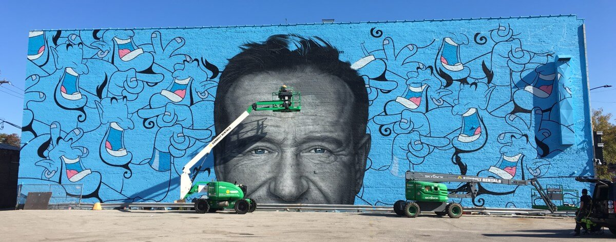 Robin Williams es homenajeado en Chicago con un mural