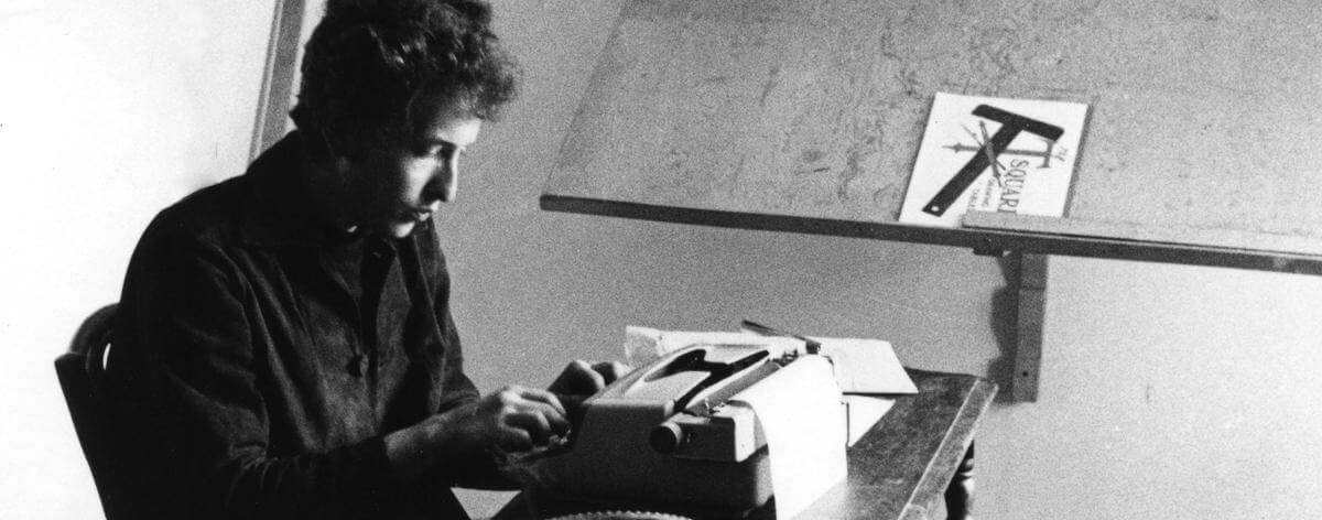Bob Dylan y sus bocetos en Mondo Scripto