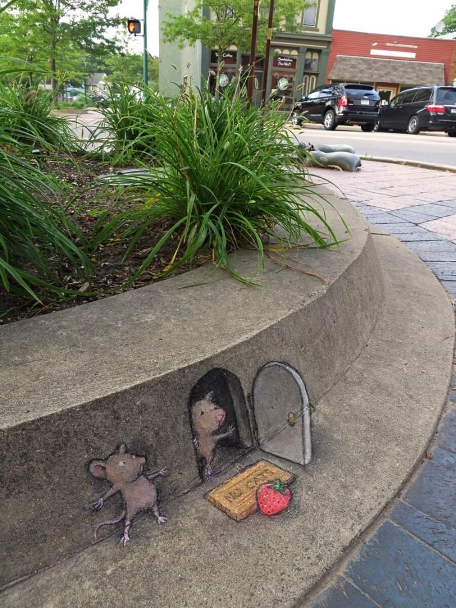 David Zinn y sus ilustraciones 3D en las calles - ACC