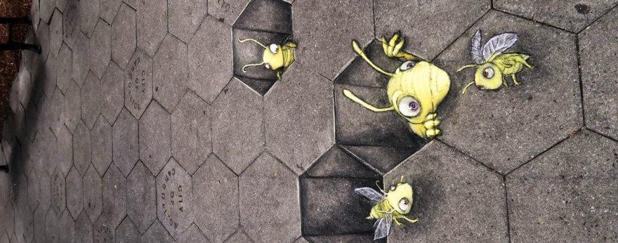 David Zinn y sus ilustraciones 3D en las calles