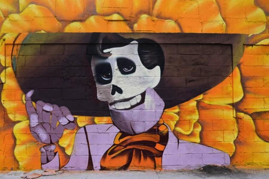 Murales de Coco en un panteón de Guanajuato - ACC