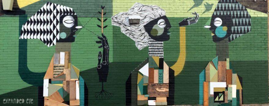 Expanded Eye y su arte reciclado y natural