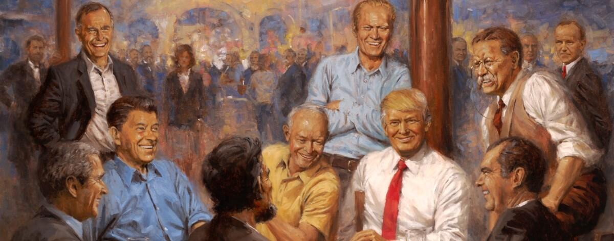 Pintura de Trump de la que todo el mundo habla