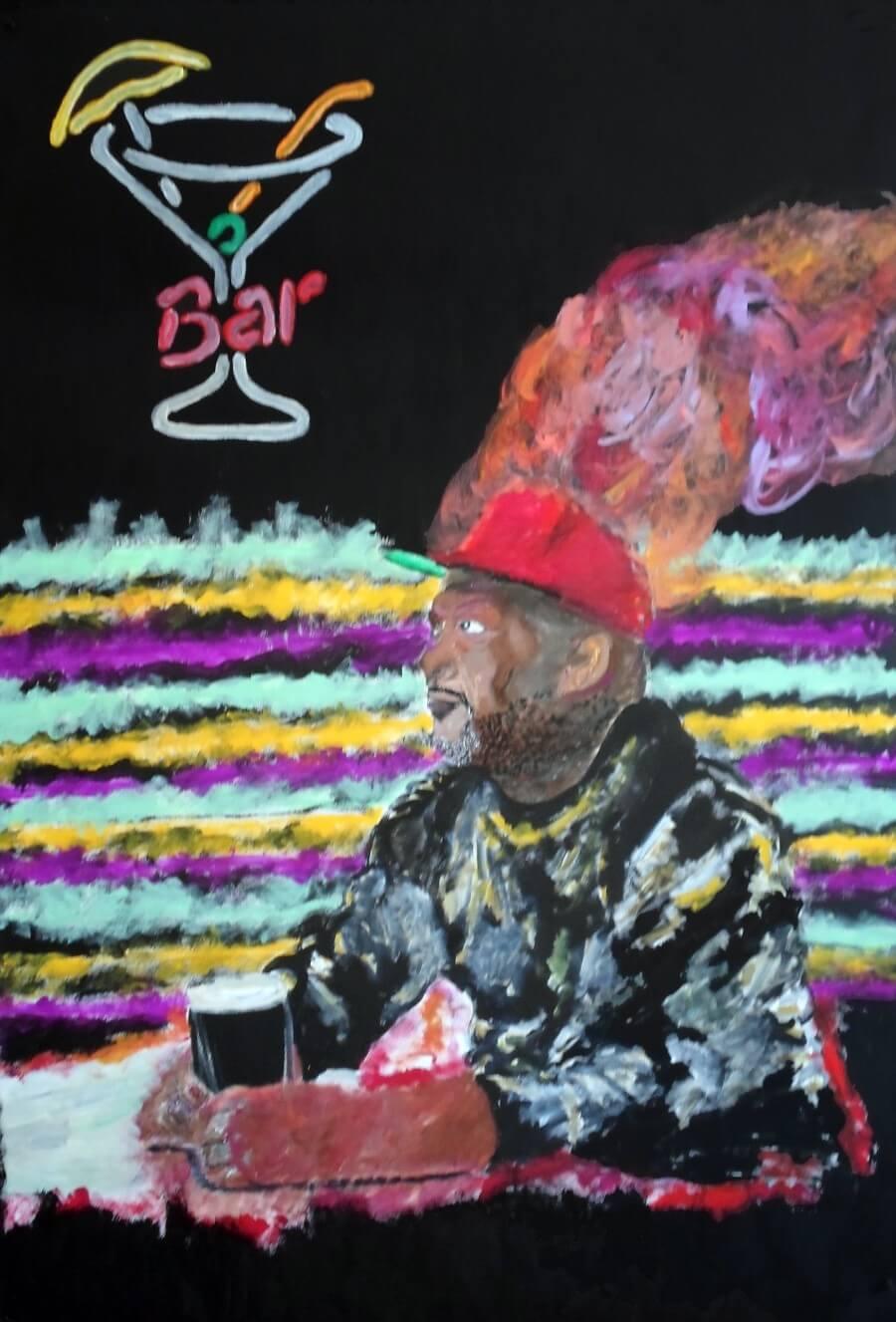 Barman crea retratos de clientes que beben mucho - ACC