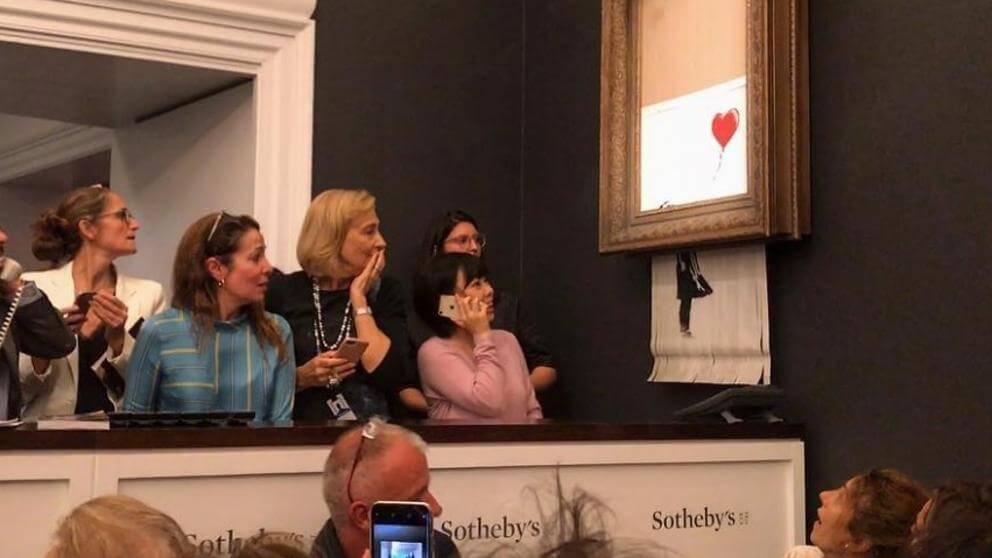 Obra de Banksy se destruye