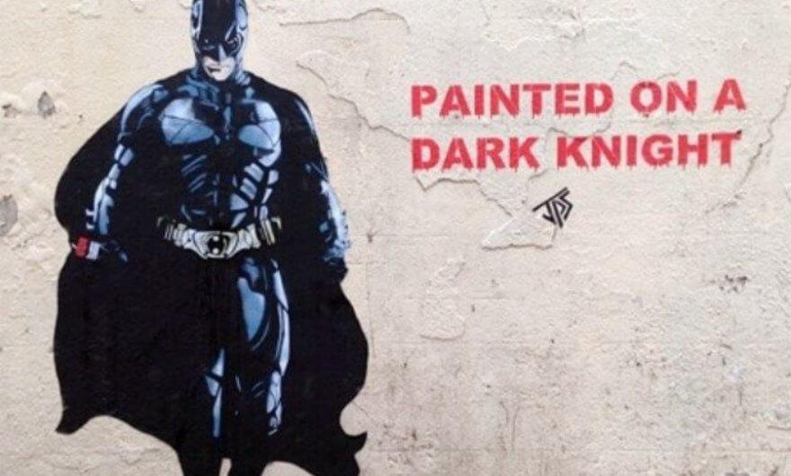 Mural sobre pared Batman