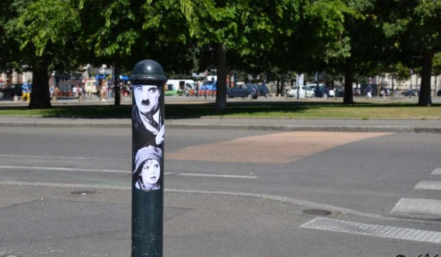 Pieza de la película de Chaplin