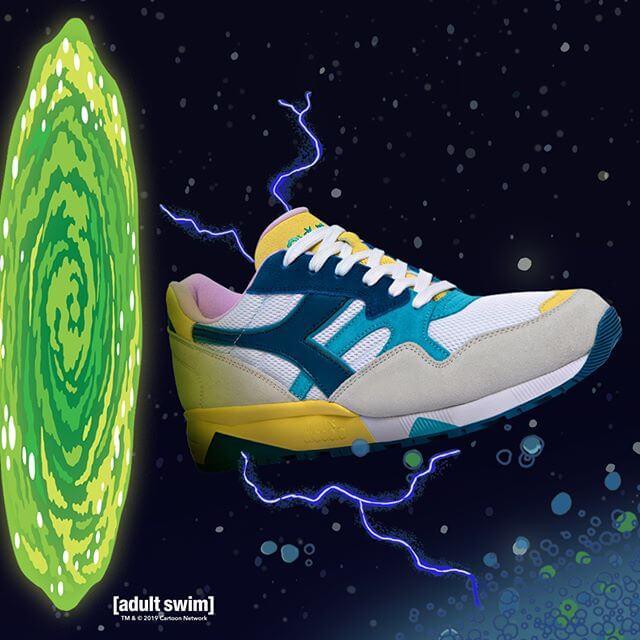 Apariencia de los tenis de Morty de Diadora
