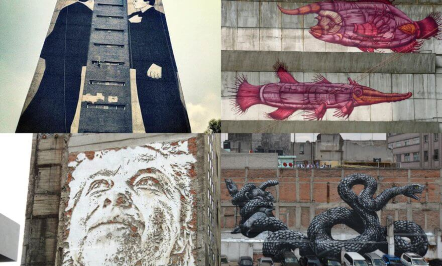 Murales de artistas en el Festival All City Canvas (2012)