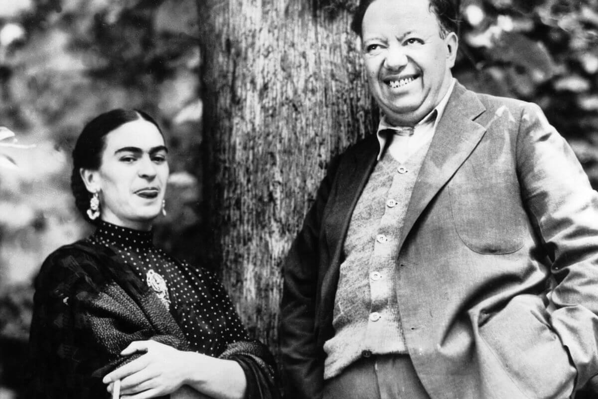 Fotografía de Frida Kahlo y Diego Rivera