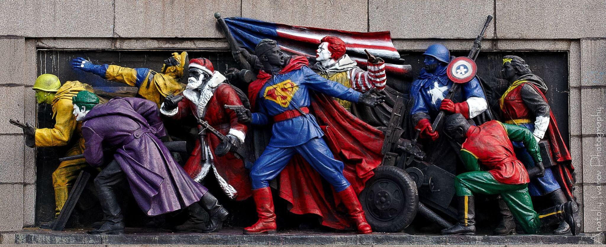 Monumento soviético vandalizado de Rusia