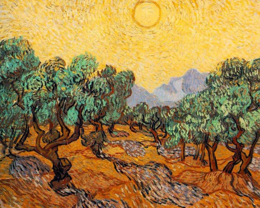 Pintura de Van Gogh Campo de trigo con cuervos