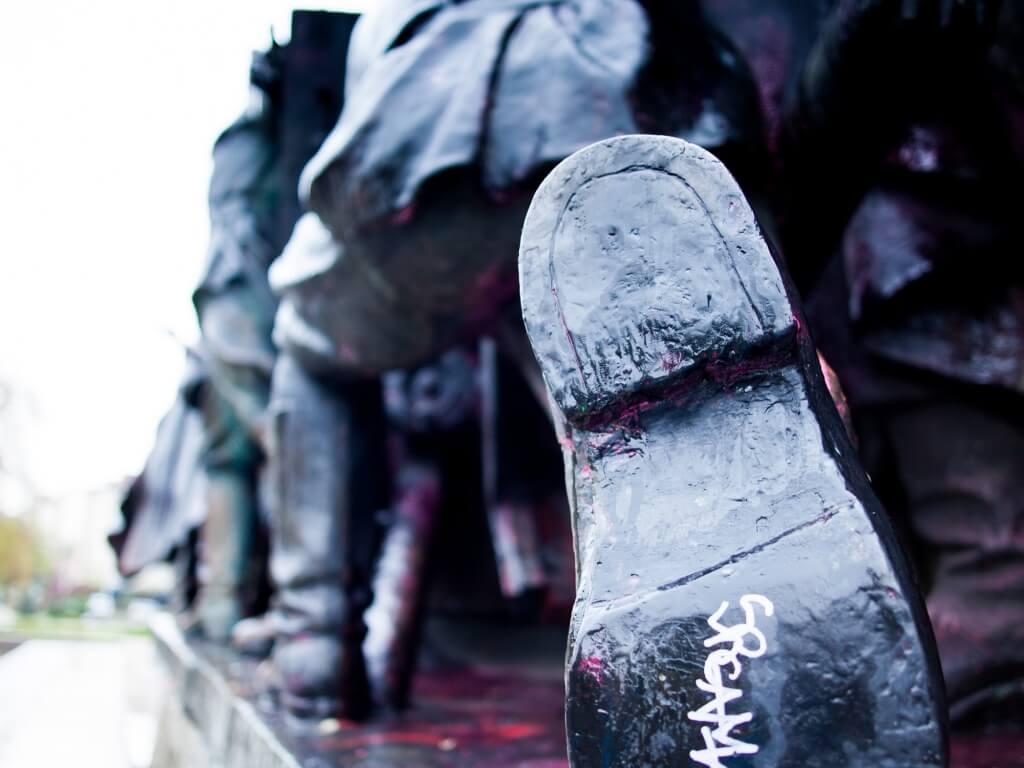 PArte del monumento soviético de Rusia en Sofía