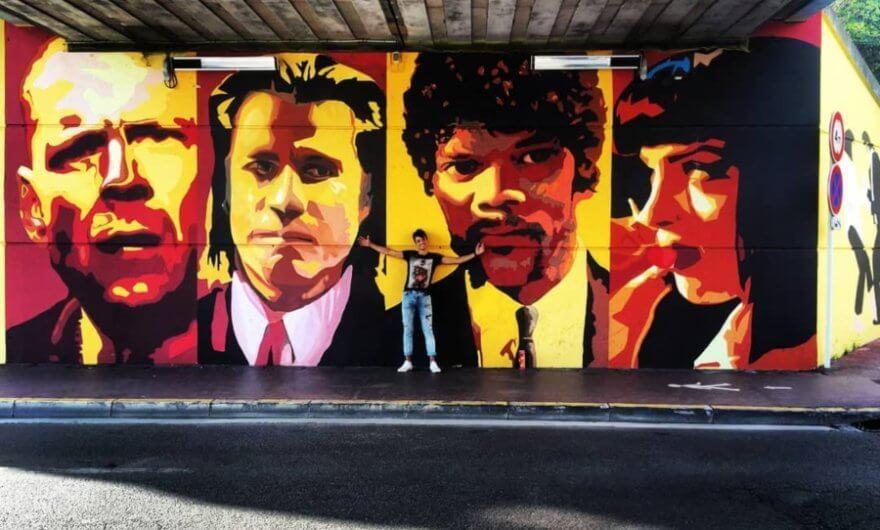 Mural película Pulp Fiction