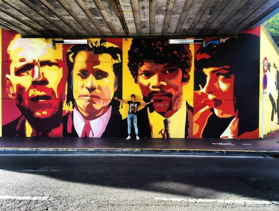 Mural película Pulp Fiction