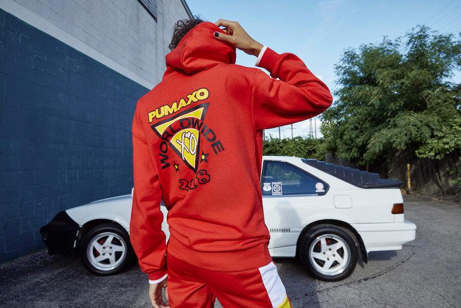 Sudadera colaborativa de Puma x XO diseñada por The Weeknd