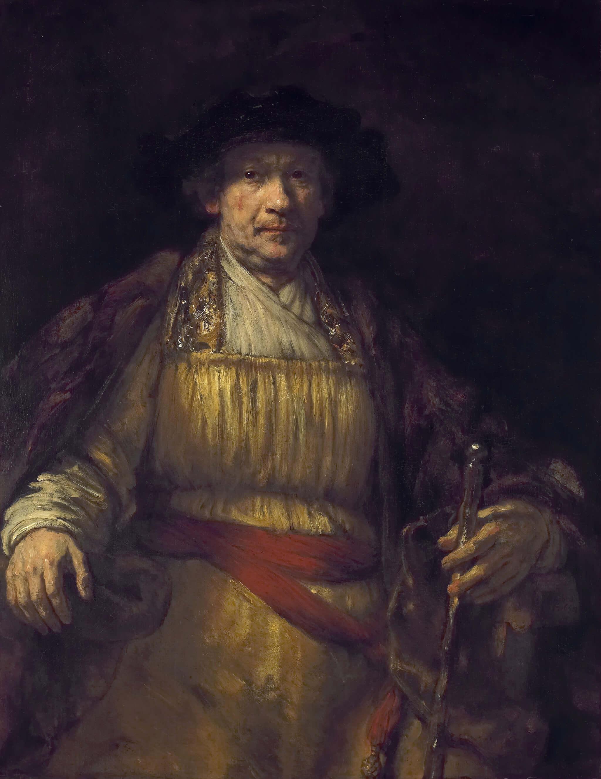 Atorretraato del pinto holandés Rembrant