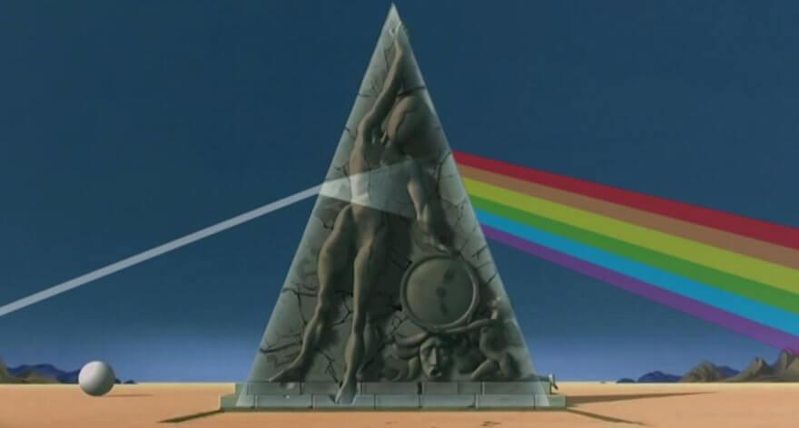 Triangulo Pink Floyd y Dalí
