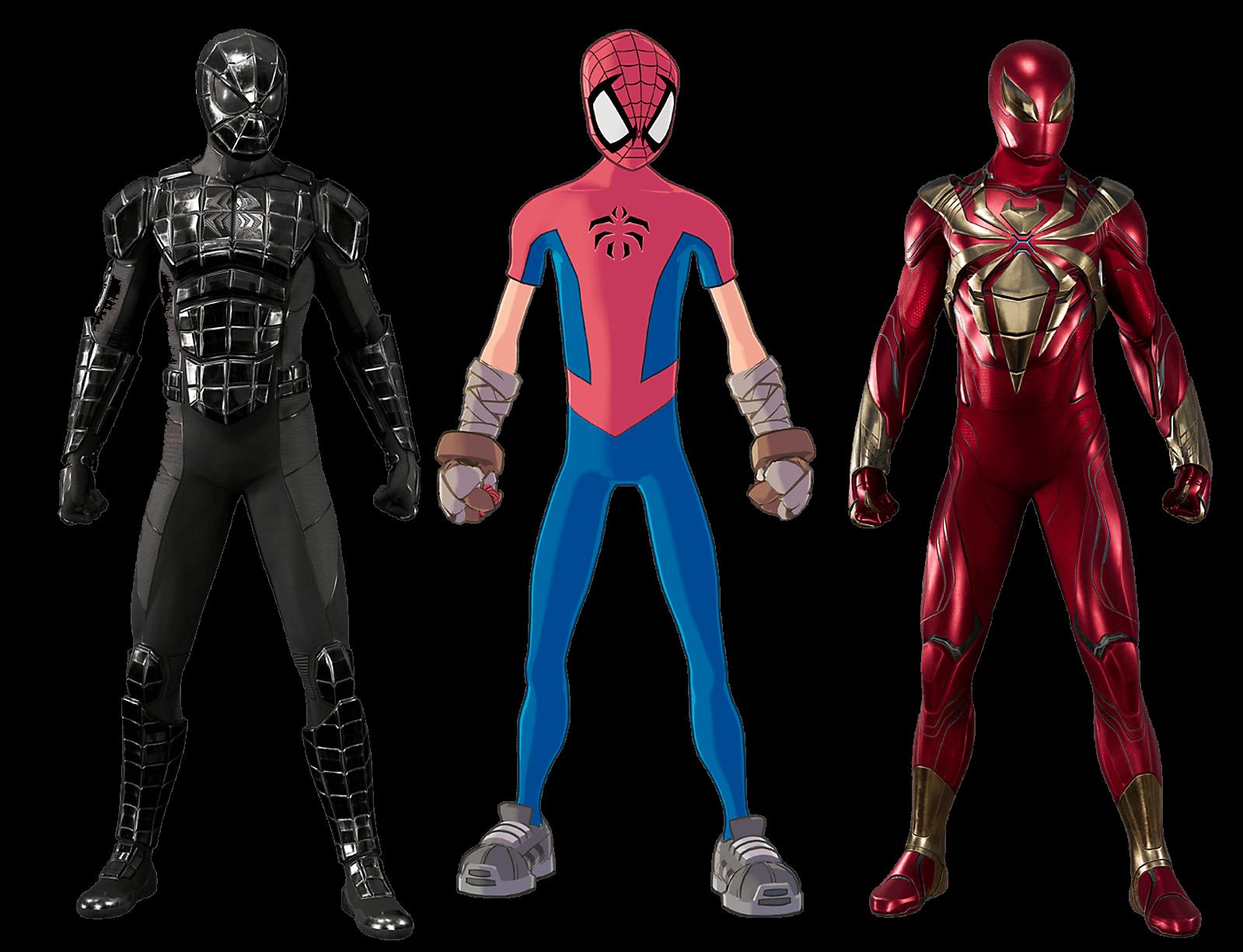 Tres nuevos trajes para el videojuego de Spiderman