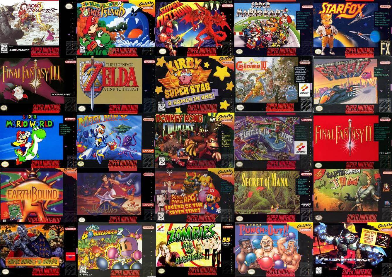 Videojuegos del Super Nintendo Classic