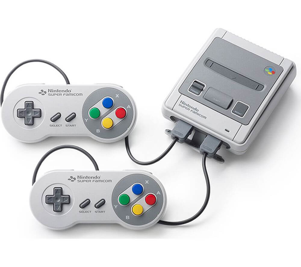 Fotografía de la consola Super Nintendo Classic