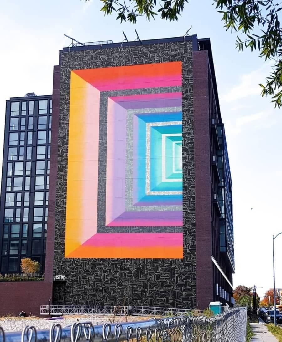 Cuadros de colores sobre superficie por Astro Odv Cbs