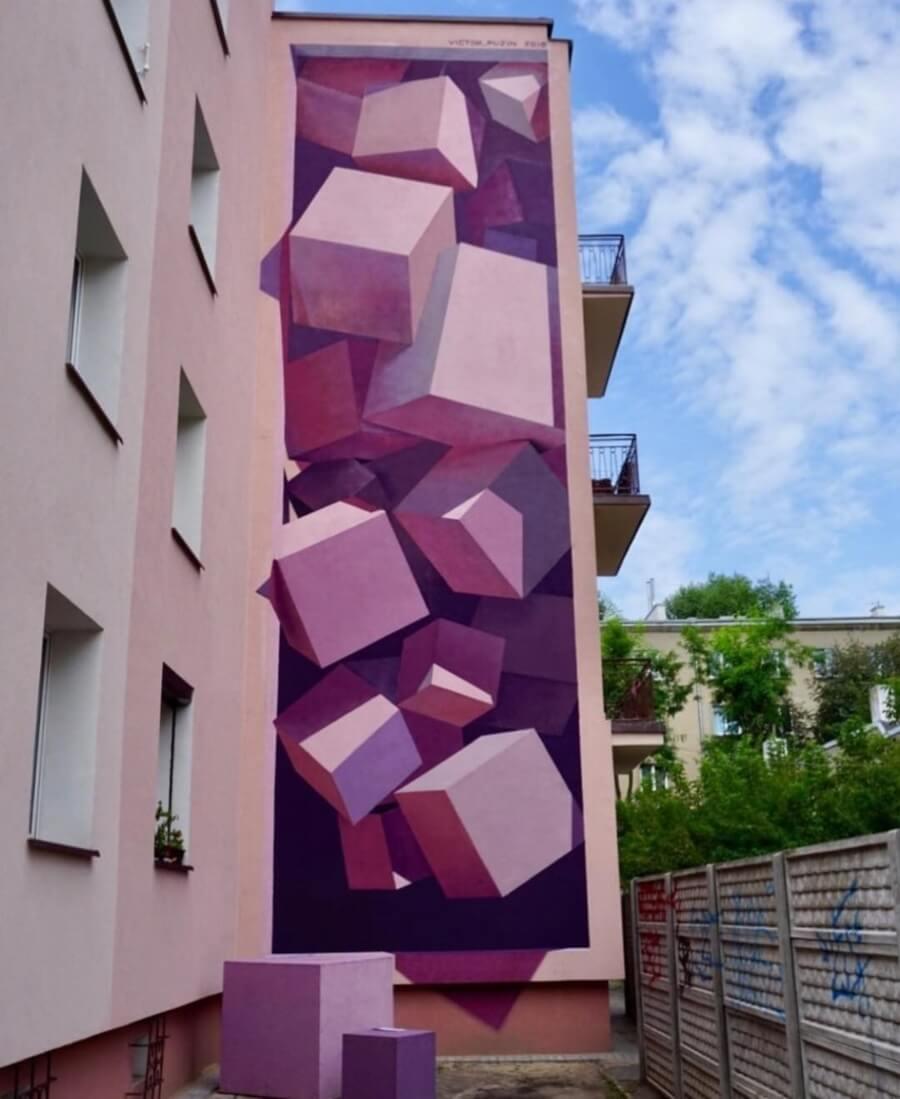 Cubos morados por Victor Puzin