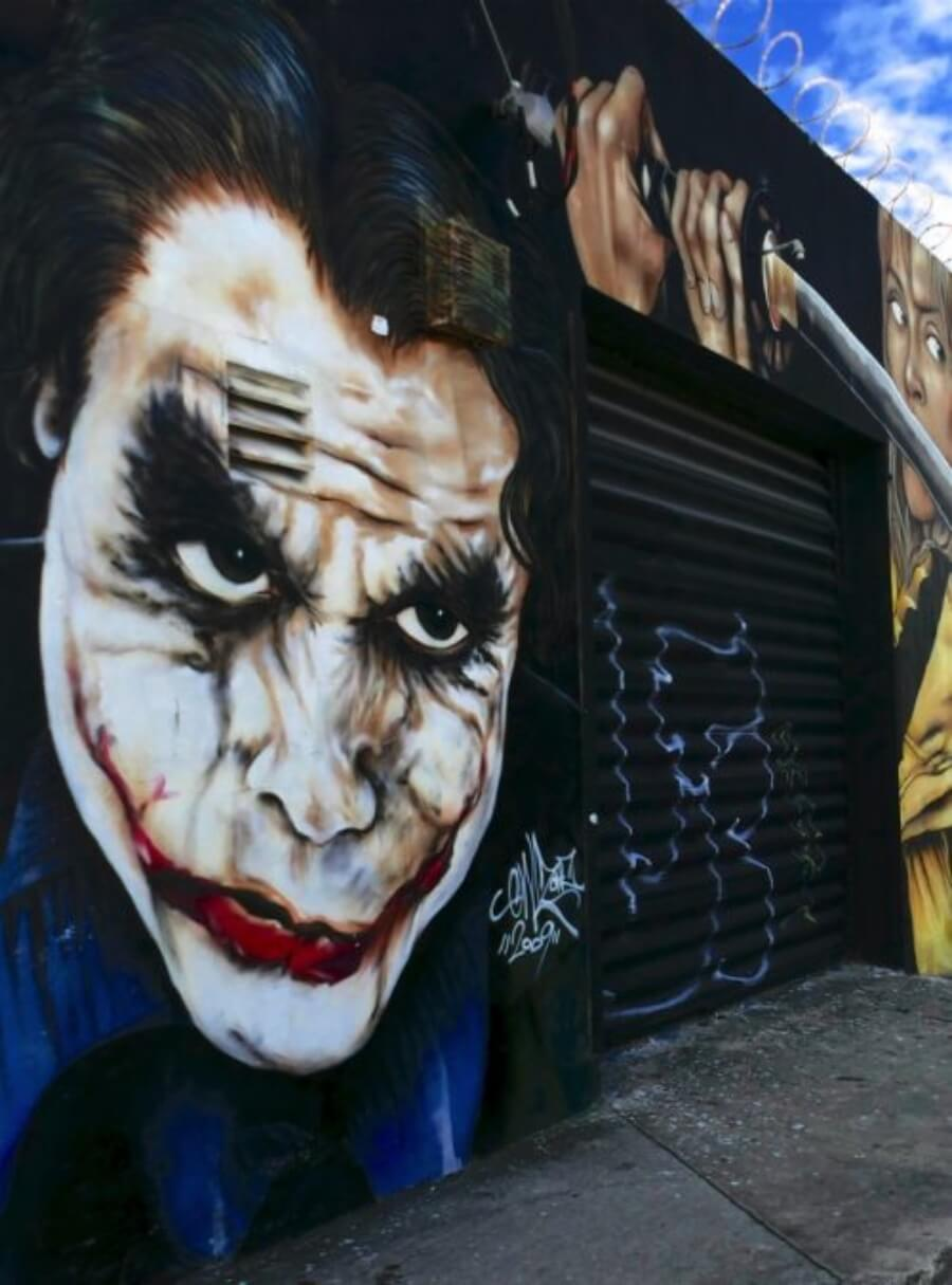 Mural Joker Batman