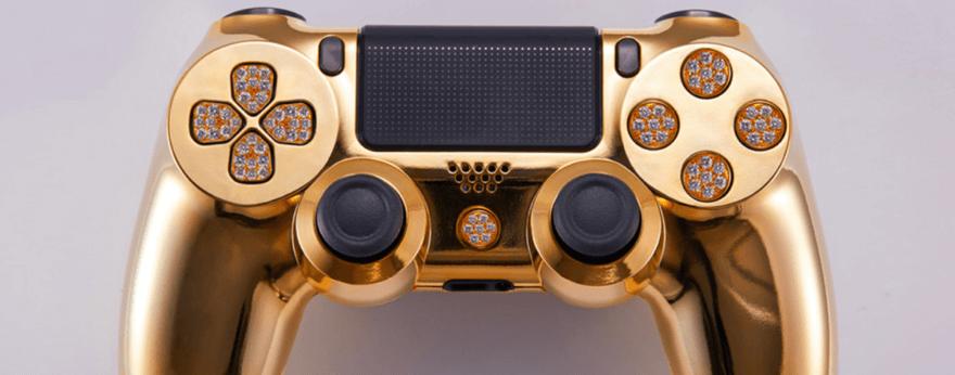 Playstation 4 y Brikk lanzan un control bañado en oro