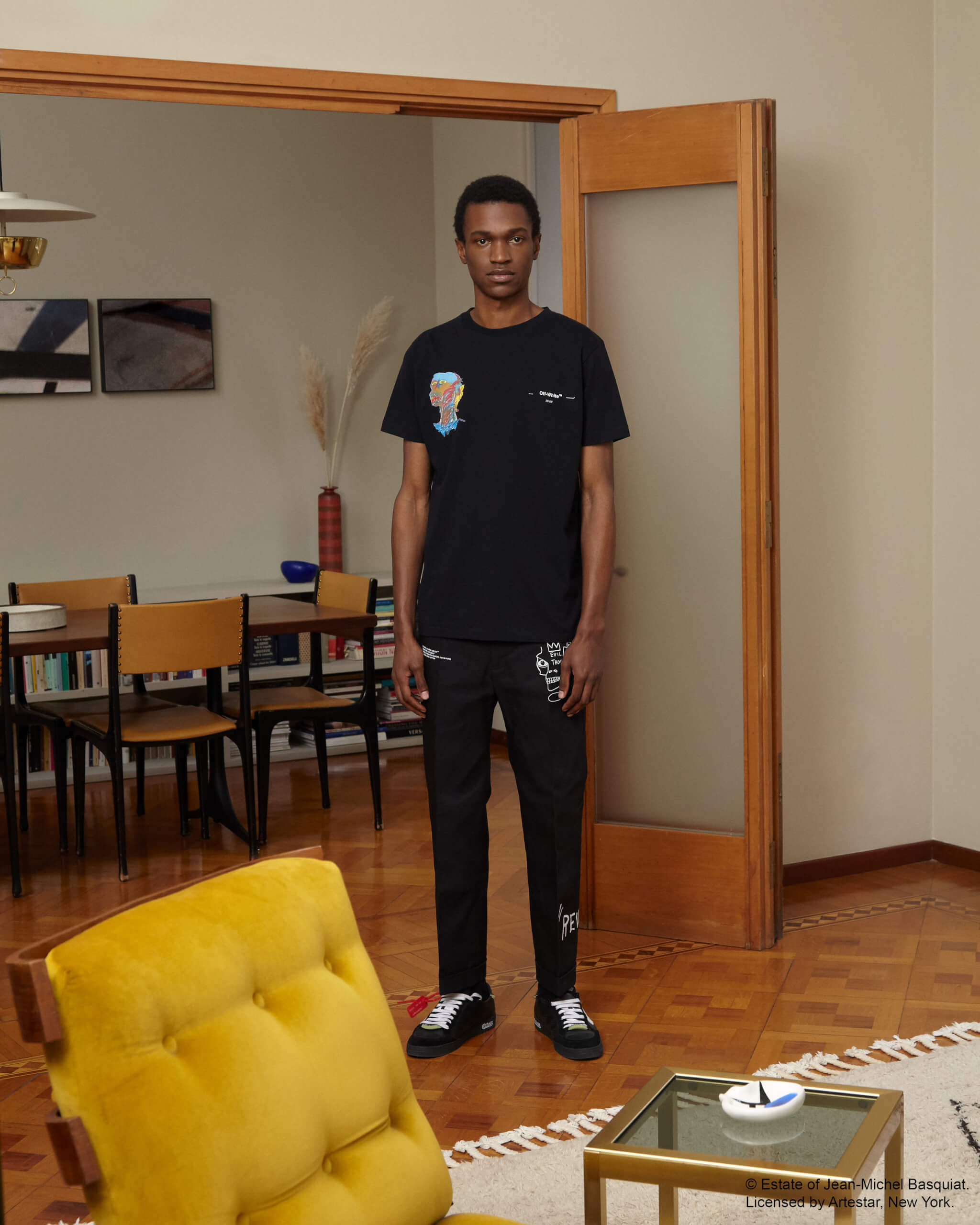 Colección de Off White inspirada en Basquiat