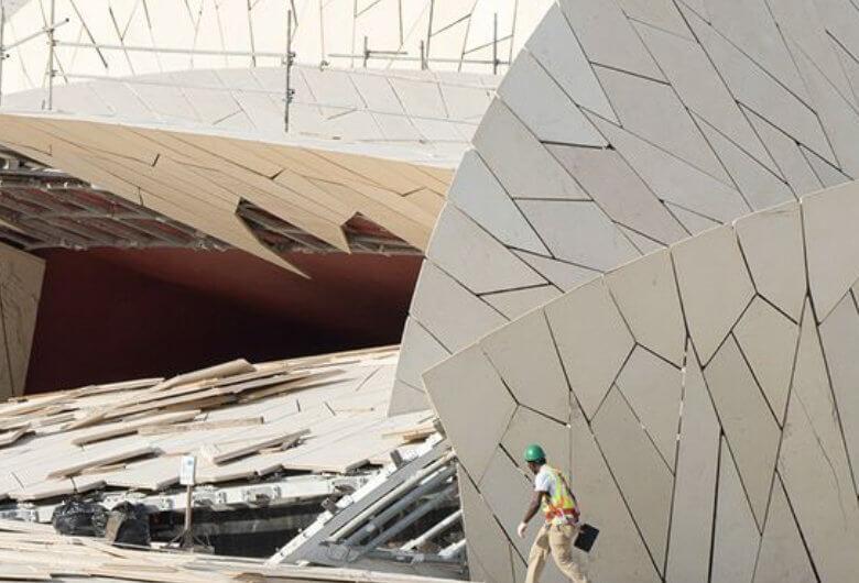 Construcción del Museo Nacional de Qatar por Jean Nouvel
