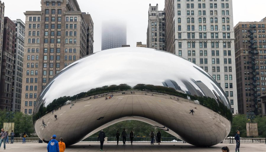 Foto de la obra Cloud Gate o The Bean de Chicago