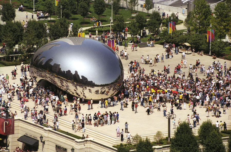 Foto de la obra Cloud Gate o llamada también The Bean de Chicago