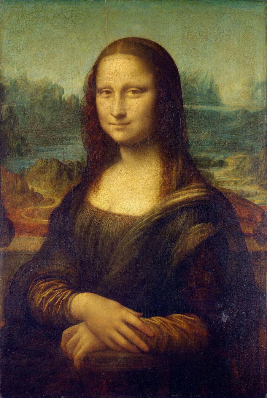 Fotografía de La Gioconda de Leonardo Da Vinci